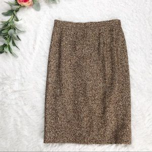Escada Brown Tweed Pencil Skirt